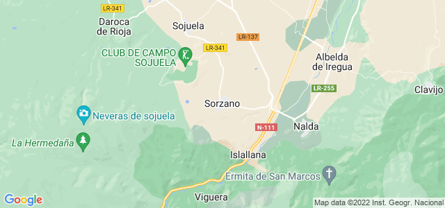 Mapa de Sorzano