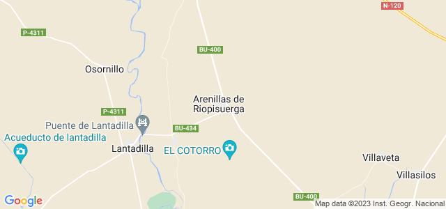 Mapa de Arenillas de Riopisuerga