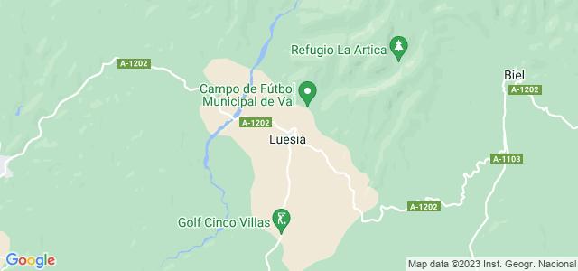 Mapa de Luesia