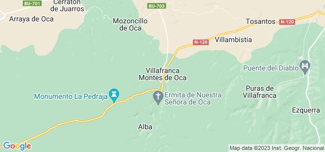 Mapa de Villafranca Montes de Oca