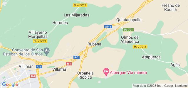 Mapa de Rubena