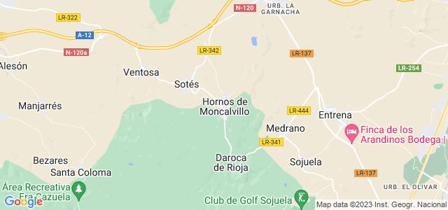 Mapa de Hornos de Moncalvillo