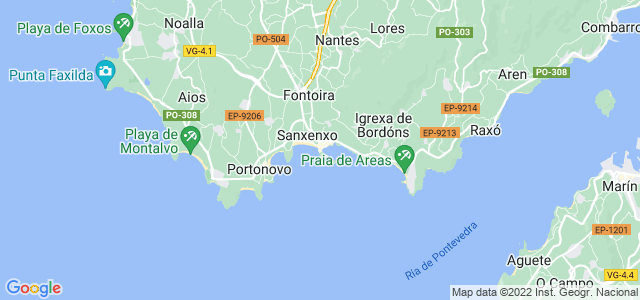 Mapa de Sanxenxo