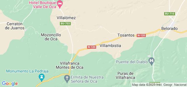 Mapa de Espinosa del Camino