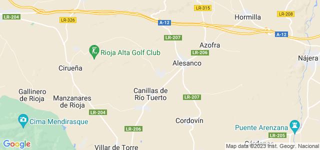 Mapa de Torrecilla sobre Alesanco