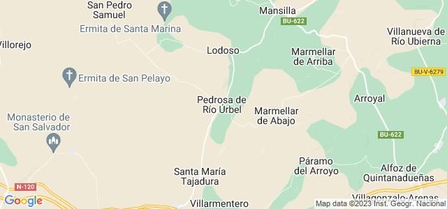 Mapa de Pedrosa de Río Úrbel