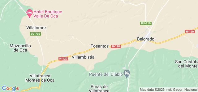 Mapa de Tosantos