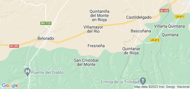 Mapa de Fresneña