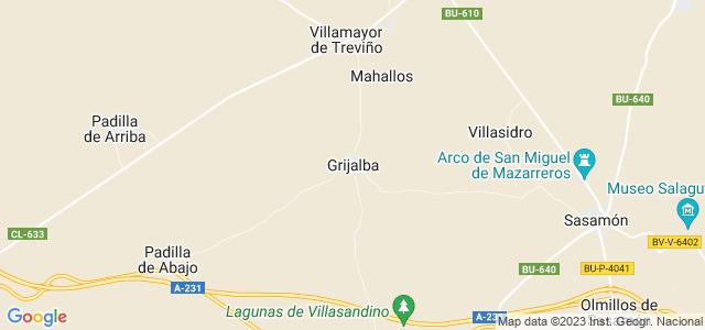 Mapa de Grijalba