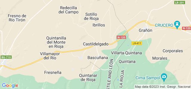 Mapa de Castildelgado