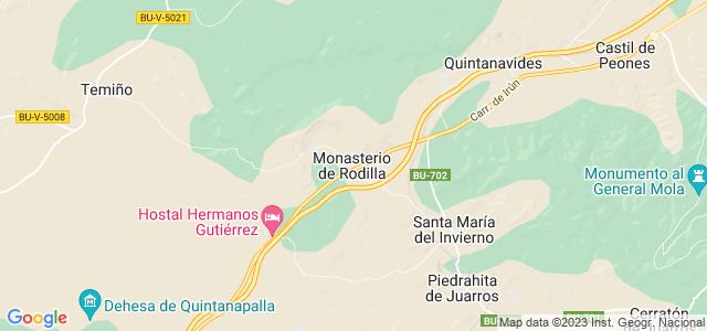 Mapa de Monasterio de Rodilla