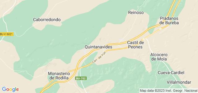 Mapa de Quintanavides