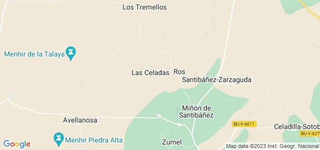 Mapa de Valle de Santibáñez
