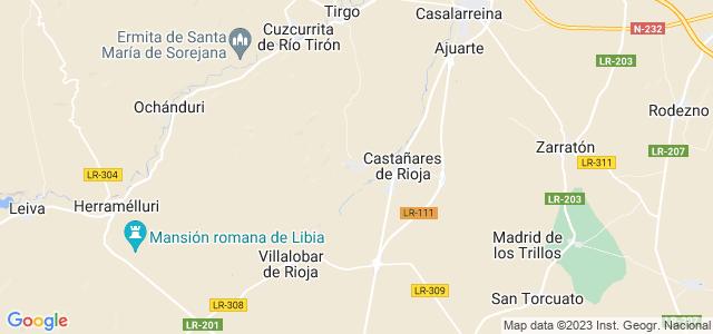 Mapa de Baños de Rioja