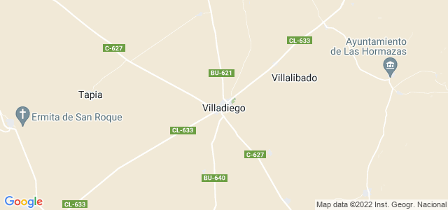 Mapa de Villadiego