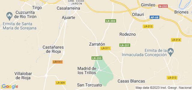 Mapa de Zarratón