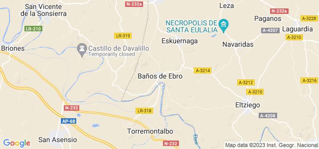 Mapa de Baños de Ebro - Mañueta