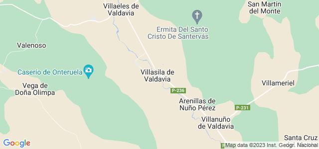 Mapa de Villasila de Valdavia