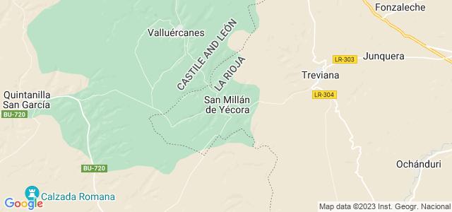 Mapa de San Millán de Yécora