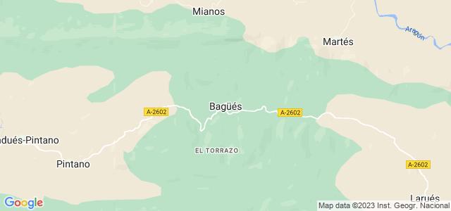 Mapa de Bagüés