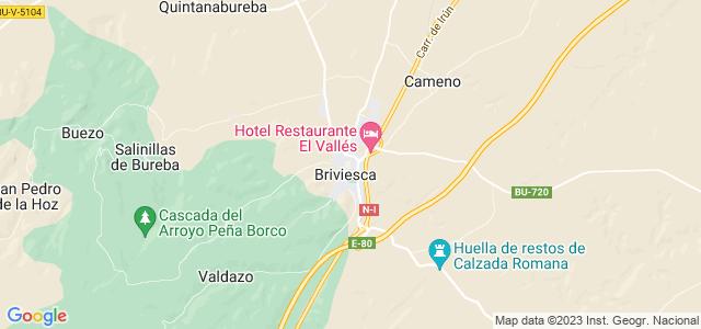 Mapa de Briviesca