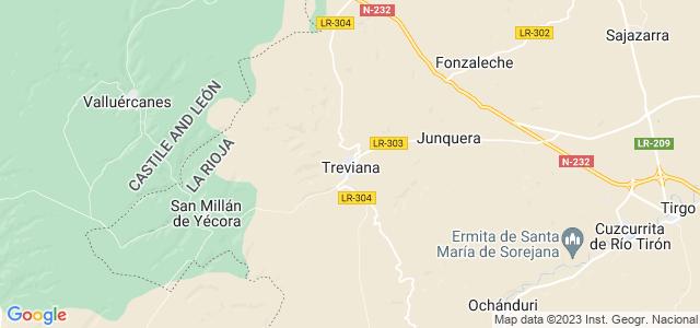 Mapa de Treviana