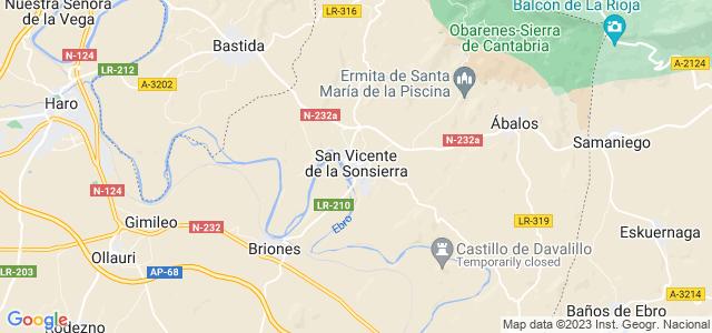 Mapa de San Vicente de la Sonsierra