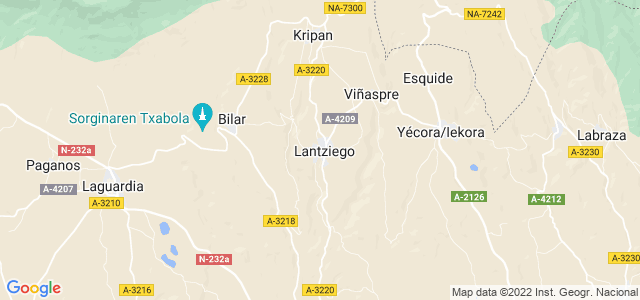 Mapa de Lanciego - Lantziego