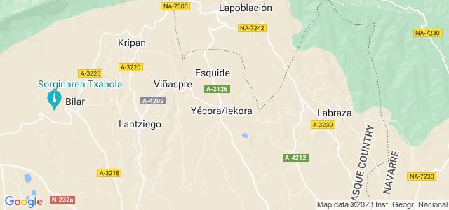 Mapa de Yécora - Iekora