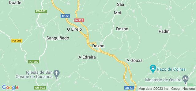 Mapa de Dozón