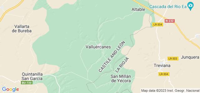 Mapa de Valluércanes