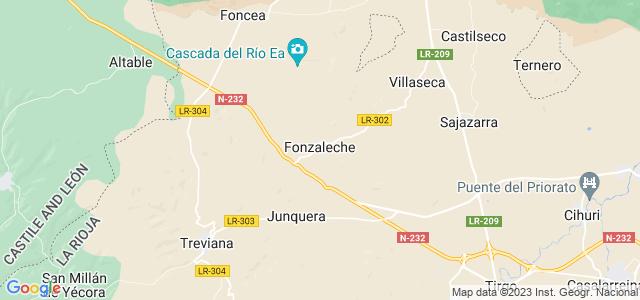 Mapa de Fonzaleche