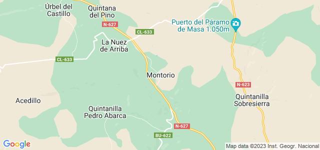 Mapa de Montorio