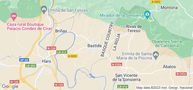 Mapa de Labastida - Bastida