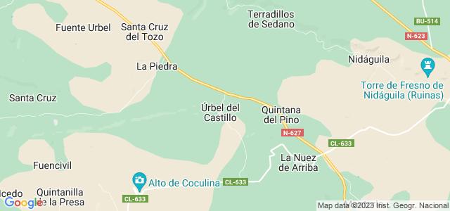 Mapa de Úrbel del Castillo