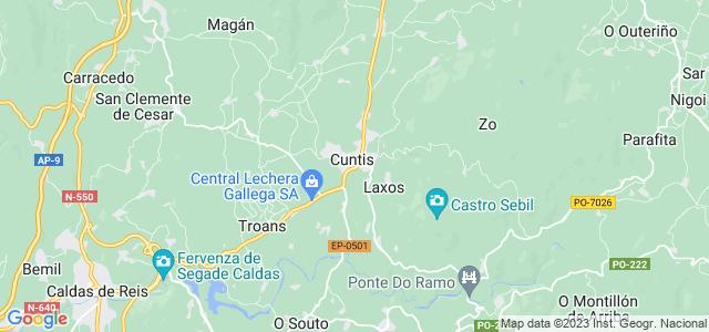 Mapa de Cuntis
