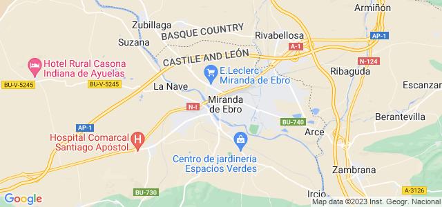 Mapa de Miranda de Ebro