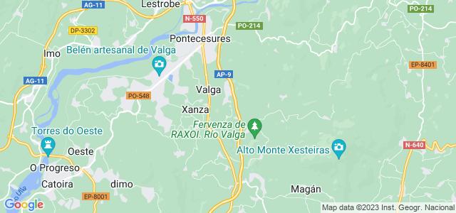Mapa de Valga