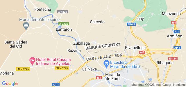 Mapa de Erriberagoitia - Ribera Alta