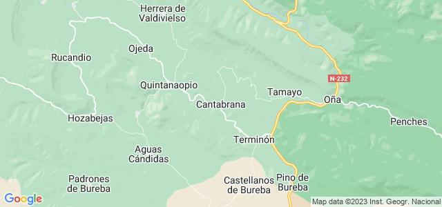 Mapa de Cantabrana