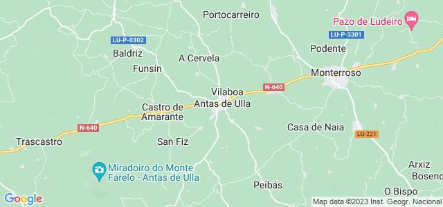 Mapa de Antas de Ulla
