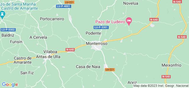 Mapa de Monterroso