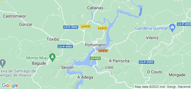Mapa de Portomarín