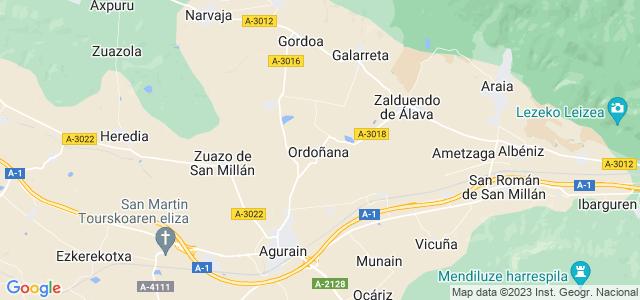 Mapa de San Millán - Donemiliaga