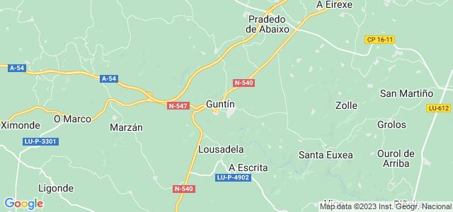 Mapa de Guntín