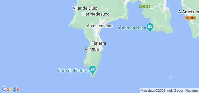 Mapa de Fisterra