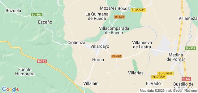 Mapa de Villarcayo de Merindad de Castilla la Vieja