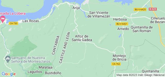 Mapa de Alfoz de Santa Gadea