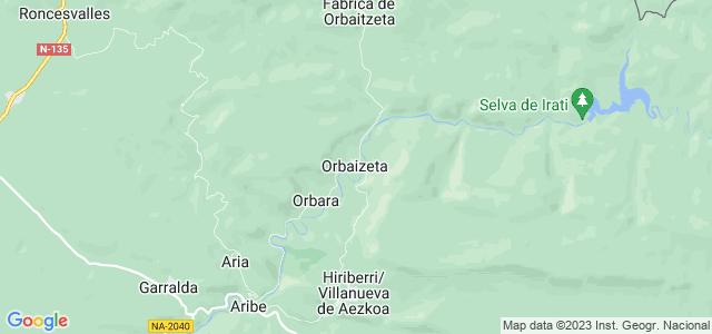 Mapa de Orbaitzeta