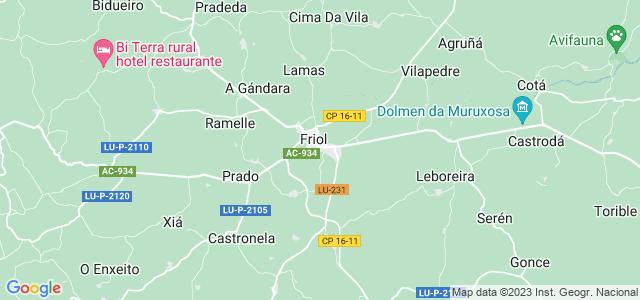 Mapa de Friol